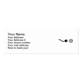 Plug outlet business card
