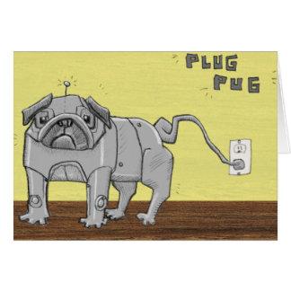 Plug Pug Card