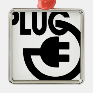 plug Silver-Colored square decoration