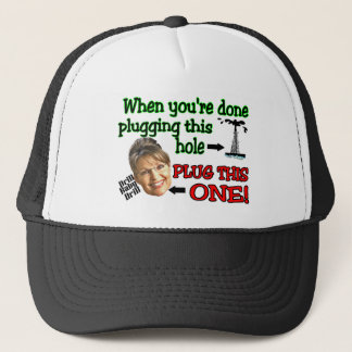 plug this hole trucker hat