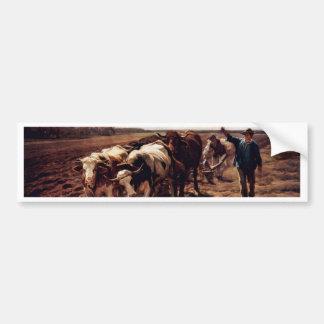Plügende Ox By Koller Rudolf (Best Quality) Bumper Sticker