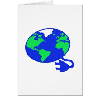 plugged in world copy.jpg greeting card