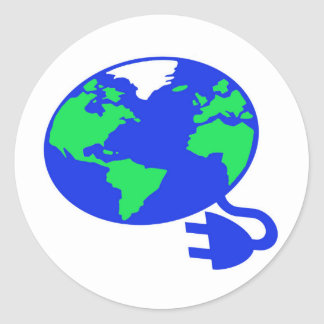 plugged in world copy.jpg round sticker
