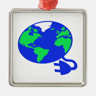 plugged in world copy.jpg Silver-Colored square decoration