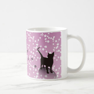 Plum and cat magnetic cup mugs