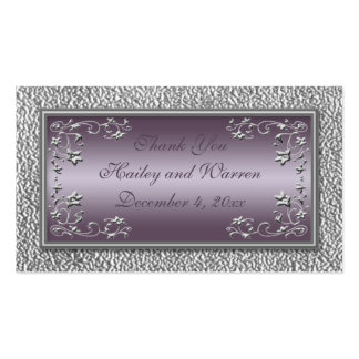 Plum and Pewter Wedding Favor Tags Pack Of Standard Business Cards