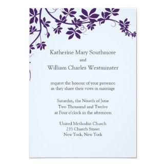 Plum And Powder Blue Wedding Invitations