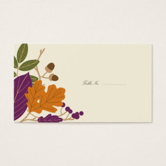 Plum and Pumpkin Fall Wedding Guest Table Cards