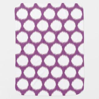 Plum Asian Moods Ikat Dots Baby Blanket