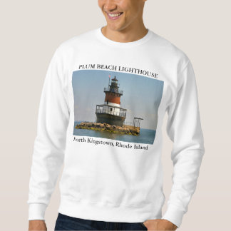 Plum Beach Lighthouse, N. Kingstown, Rhode Island Sweatshirt