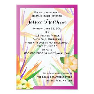 Plum Bird of Paradise Bridal Shower Wedding 11 Cm X 16 Cm Invitation Card