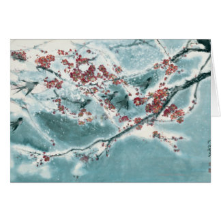 Plum Blossom in Snow Card