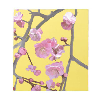 Plum blossom yellow notepad
