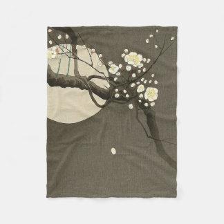 Plum Blossoms at Night by Ohara Koson Elegant Fleece Blanket