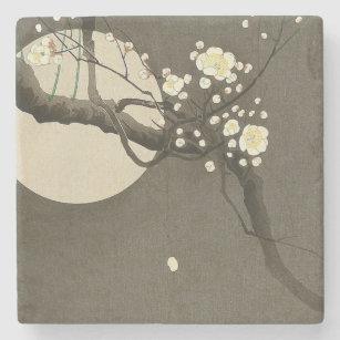 Plum Blossoms at Night by Ohara Koson Elegant Stone Coaster