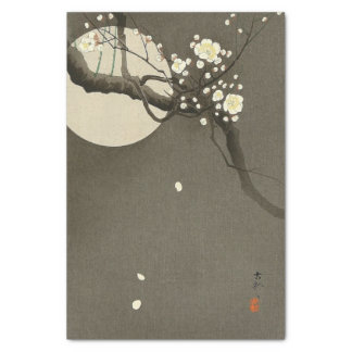 Plum Blossoms at Night by Ohara Koson Elegant Tissue Paper