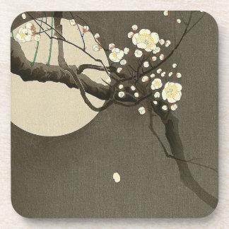 Plum Blossoms at Night by Ohara Koson Vintage Coaster