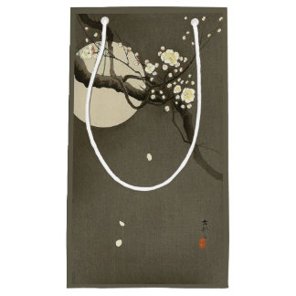 Plum Blossoms at Night by Ohara Koson Vintage Small Gift Bag