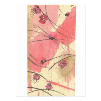 Plum Blossoms Long Postcard