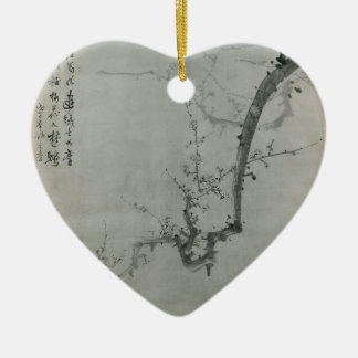 Plum Branch - Yi Yuwon Ceramic Heart Decoration