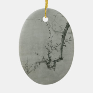 Plum Branch - Yi Yuwon Ceramic Oval Decoration