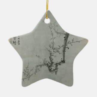 Plum Branch - Yi Yuwon Ceramic Star Decoration