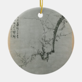 Plum Branch - Yi Yuwon Round Ceramic Decoration
