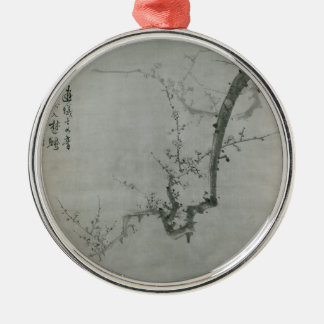 Plum Branch - Yi Yuwon Silver-Colored Round Decoration