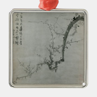 Plum Branch - Yi Yuwon Silver-Colored Square Decoration