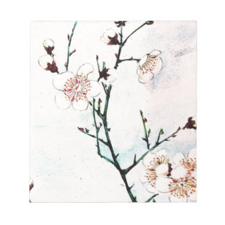 Plum Branches with Blossoms Ukiyo-e Asia Asian Art Notepad