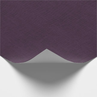 Plum Burlap Texture Wrapping Paper