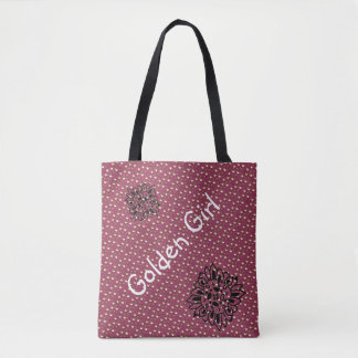 Plum Chic Gold Dots bag for beach or shopping