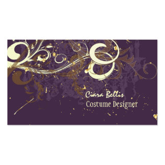 Plum & Chocolate swirls Pack Of Standard Business Cards