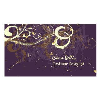 Plum & Chocolate swirls Pack Of Standard Business Cards