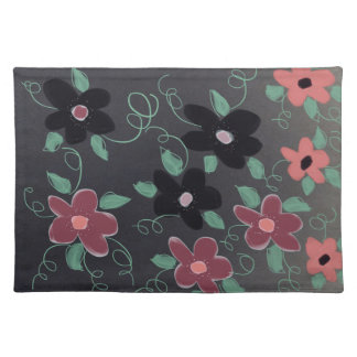 Plum Coral And Black Placemats