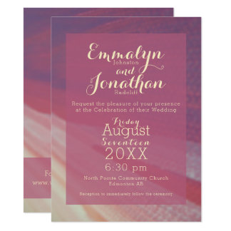 Plum Coral and Cream Modern Abstract Invitation