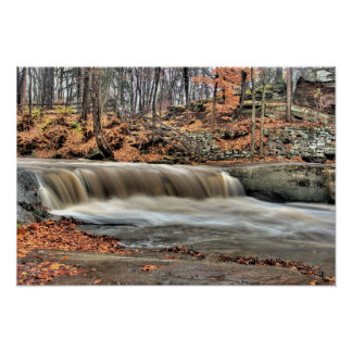 Plum Creek Falls, Olmstead Falls, Ohio Poster