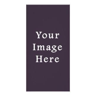 Plum Dark Purple Color Trend Blank Template Photo Card Template