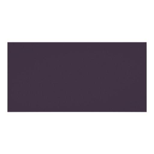 Plum Dark Purple Color Trend Blank Template Personalized Photo Card
