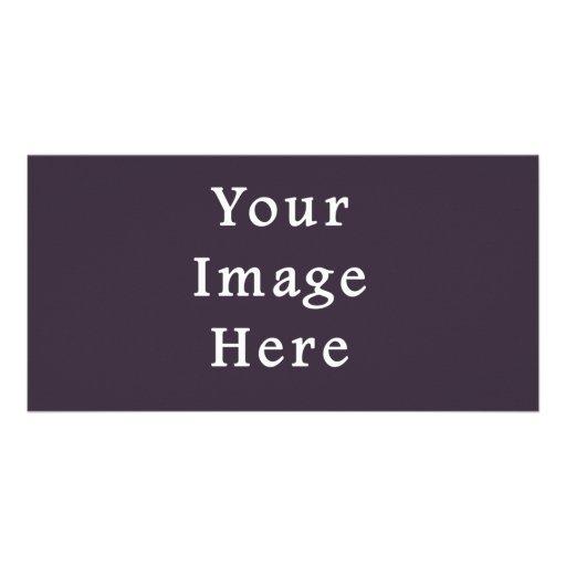 Plum Dark Purple Color Trend Blank Template Customized Photo Card