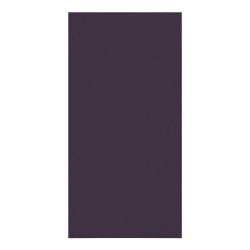 Plum Dark Purple Color Trend Blank Template Photo Card