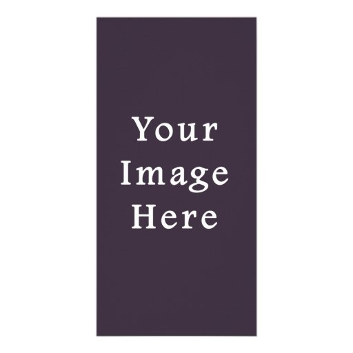 Plum Dark Purple Color Trend Blank Template Photo Greeting Card
