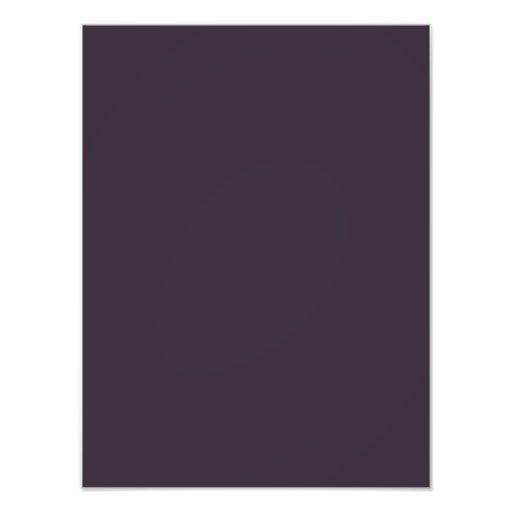Plum Dark Purple Color Trend Blank Template Photo
