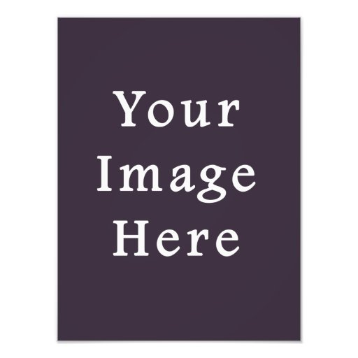 Plum Dark Purple Color Trend Blank Template Art Photo