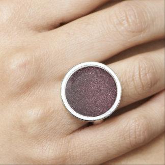 Plum  Faux Glitter  Design Ring