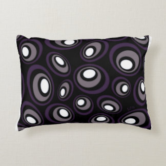 Plum & Fawn Offset Retro Ovals Decorative Cushion