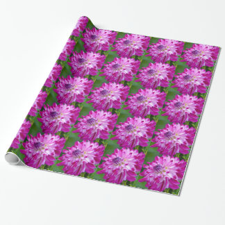 Plum Flora Wrapping Paper