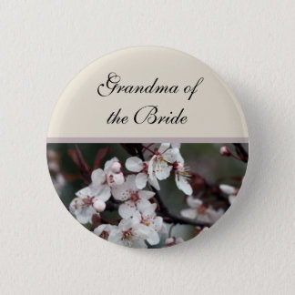plum flower  wedding button