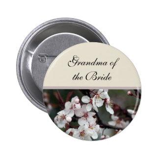 plum flower  wedding button