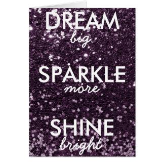 Plum Glitter Dream Sparkle Shine Card